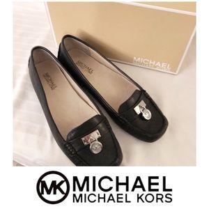New Michael Kors Black Hamilton Leather Loafers